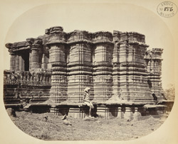 General view from the north-east of the temple at Dhotra, Buldana District, Berar